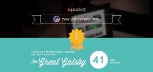 Moje čitateľské štatistiky z aplikácie Pocket.