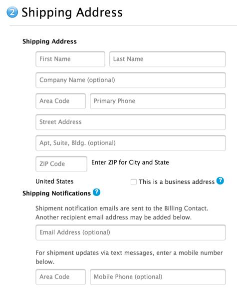 Objednávkový formulár Applu  je plný rakoviny.