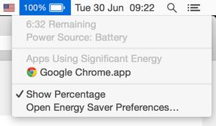 6.5 hodiny pri plnom jase a zapnutom Chrome.